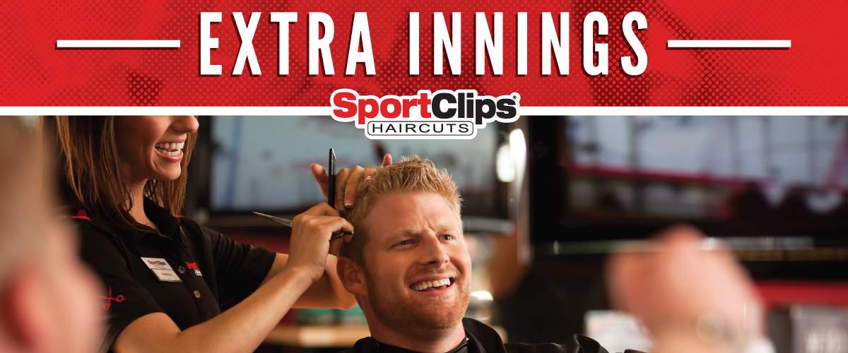The Sport Clips Haircuts of Greenville Extra Innings Offerings